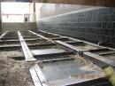 Basaltverkleidung in einem Heizraum für Holzscheite
